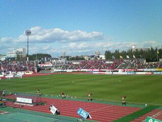 J2-45 札幌 2-1 <br />  草津 試合終了