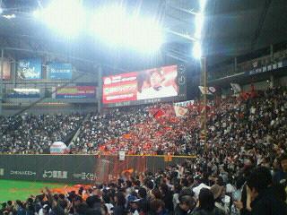 日本シリーズ第6戦 F 0-2 G @札幌ドーム