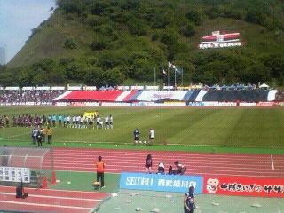J2-16 札幌 0-2 横浜C @室蘭入江
